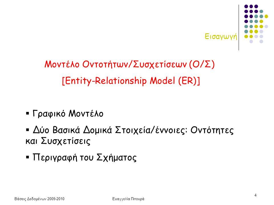 Μοντέλο Οντοτήτων/Συσχετίσεων (Ο/Σ) [Entity-Relationship Model (ER)]